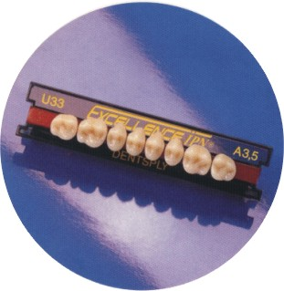 三層硬樹脂牙、塑鋼牙